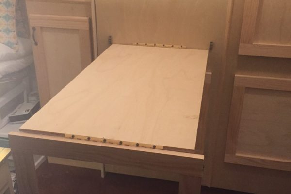 oak wallbed with diy desk option