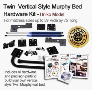 twin size murphy wall bed kit