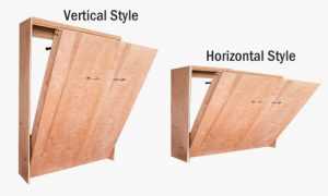 Vertical wall bed versus horizontal wall bed