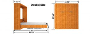 Vertical Wall Bed Cabinet Dimensions