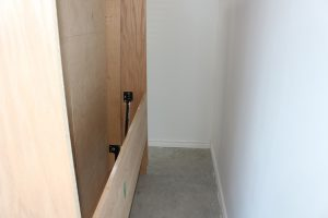 Murphy bed cabinet away from the wall