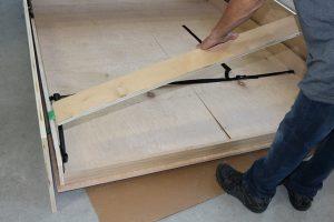 Removing upper header board from easy diy Murphy bed